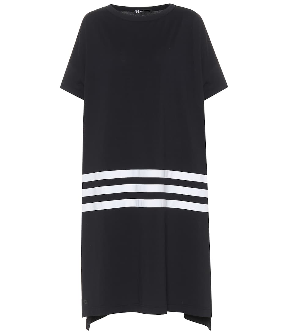 Y-3 Kleid aus Baumwolle Rabatt Angebote Mode-Stil Günstig Online Billig Ausgezeichnet iy6WhWLQrm