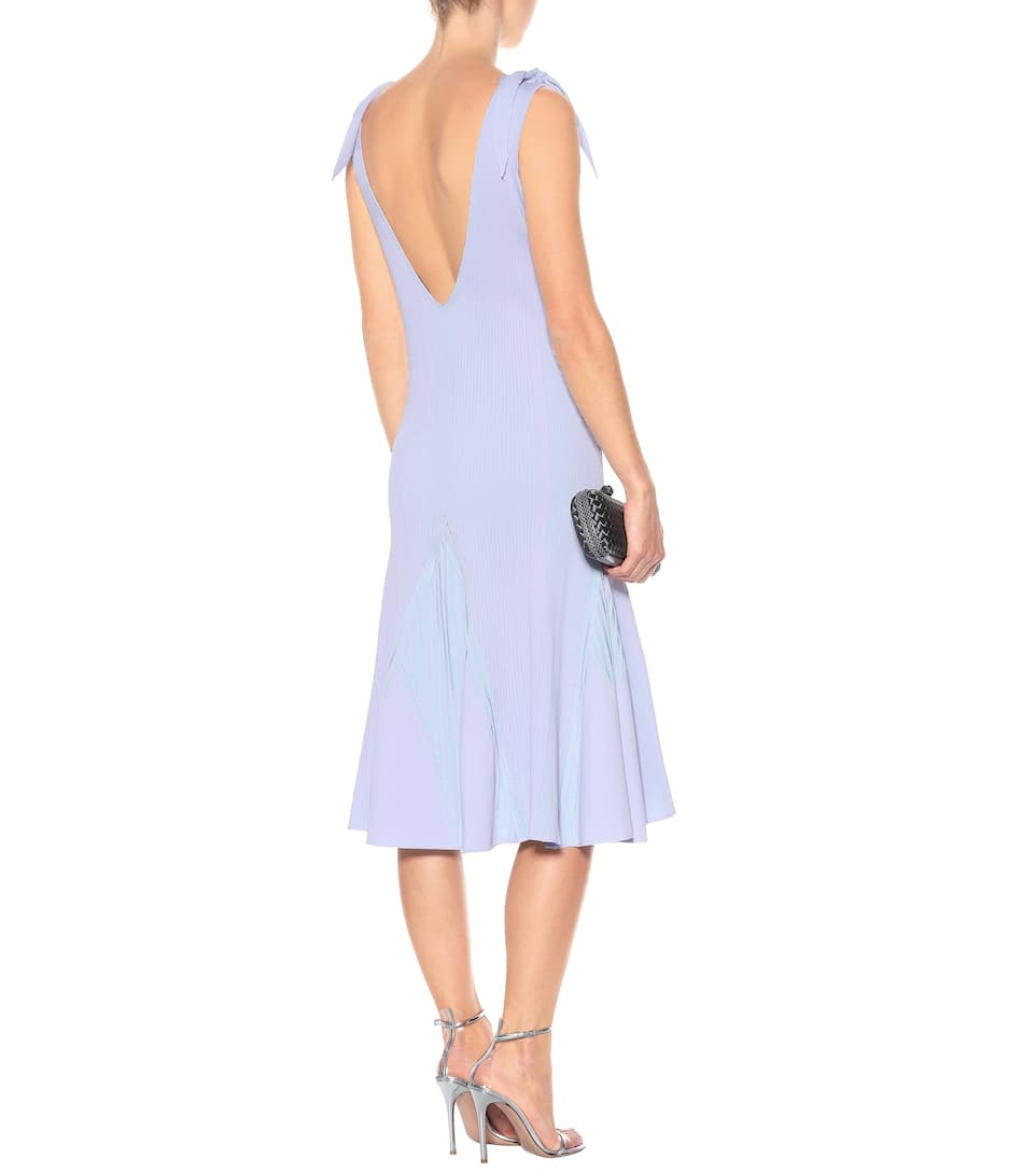 Sale 2018 New Extremely Cheap Online Roberto Cavalli Ribbed knit dress Aquamarine/Lilac Eastbay Free Shipping Browse Fast Delivery Sale Online 1oWC0Afo
