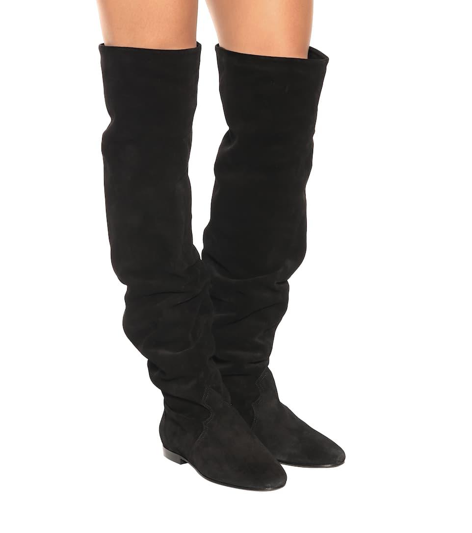 Isabel Marant Ranald suede suede over-the-knee boots Black 2018 Unisex Online pYxH4u3KGB
