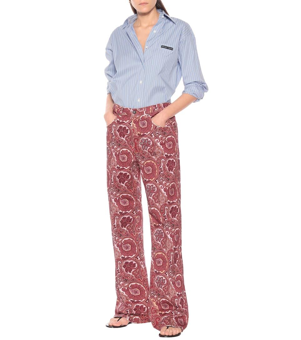 Etro - Paisley high-rise straight pants