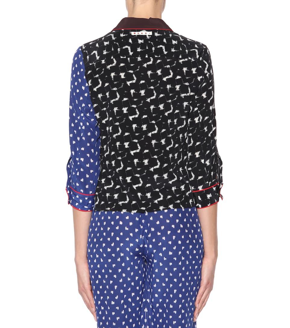 Marni Bluse aus einem Seidengemisch Billig Verkaufen Mode Amazon Günstig Online Sie Günstig Online Qd9nQ86