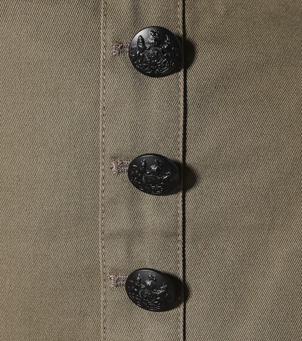 Veronica Beard Asymmetrischer Minirock Claremont aus Baumwolle