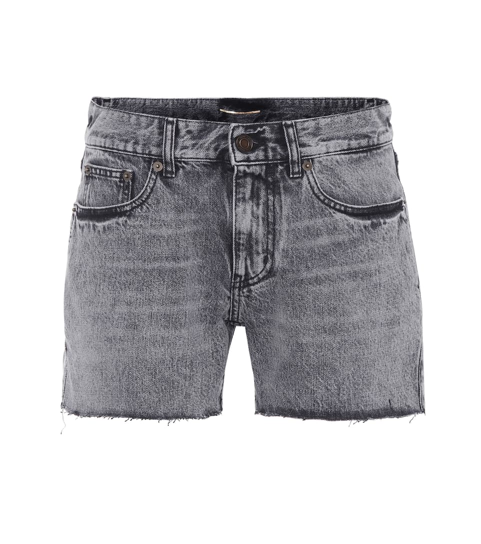 Saint Laurent High Rise Shorts aus Denim