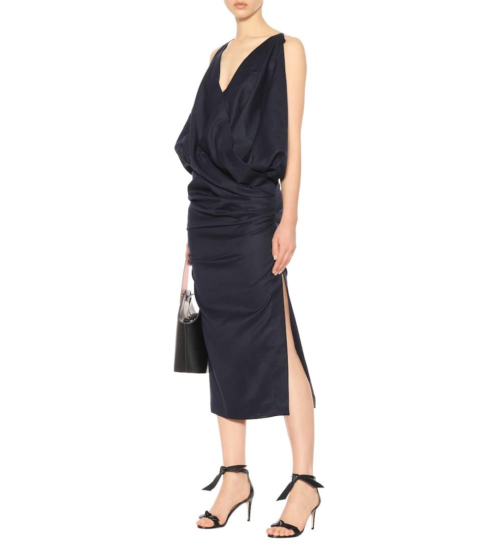 Jacquemus Kleid mit Raffungen aus Wolle