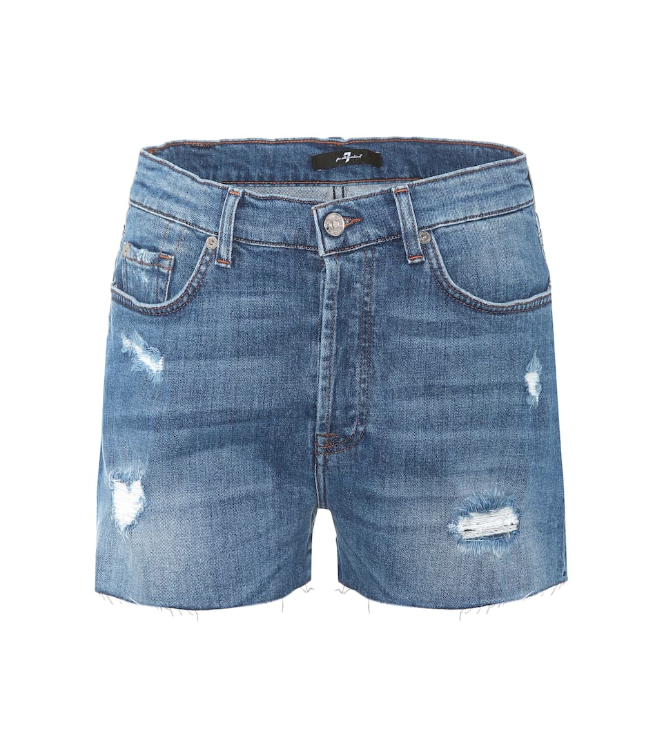7 For All Mankind Distressed HW Shorts