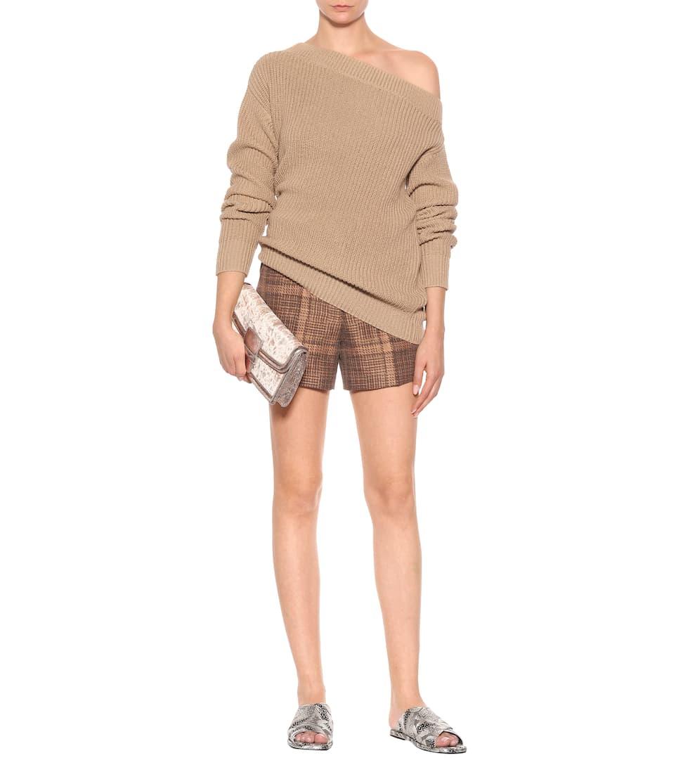 Dries Van Noten Karierte Shorts Pulleys mit Baumwollanteil