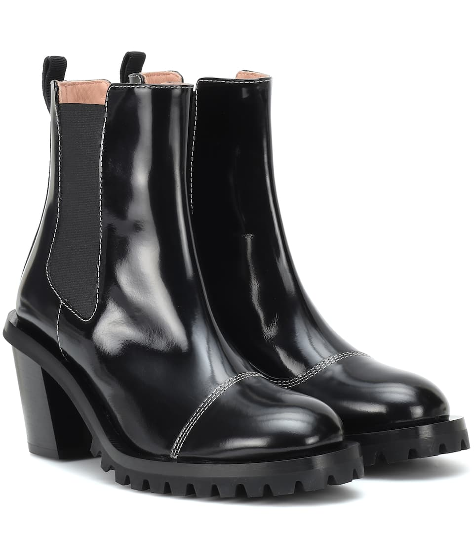 c32499d75f9c27 Patent Leather Ankle Boots - Acne Studios | mytheresa.com