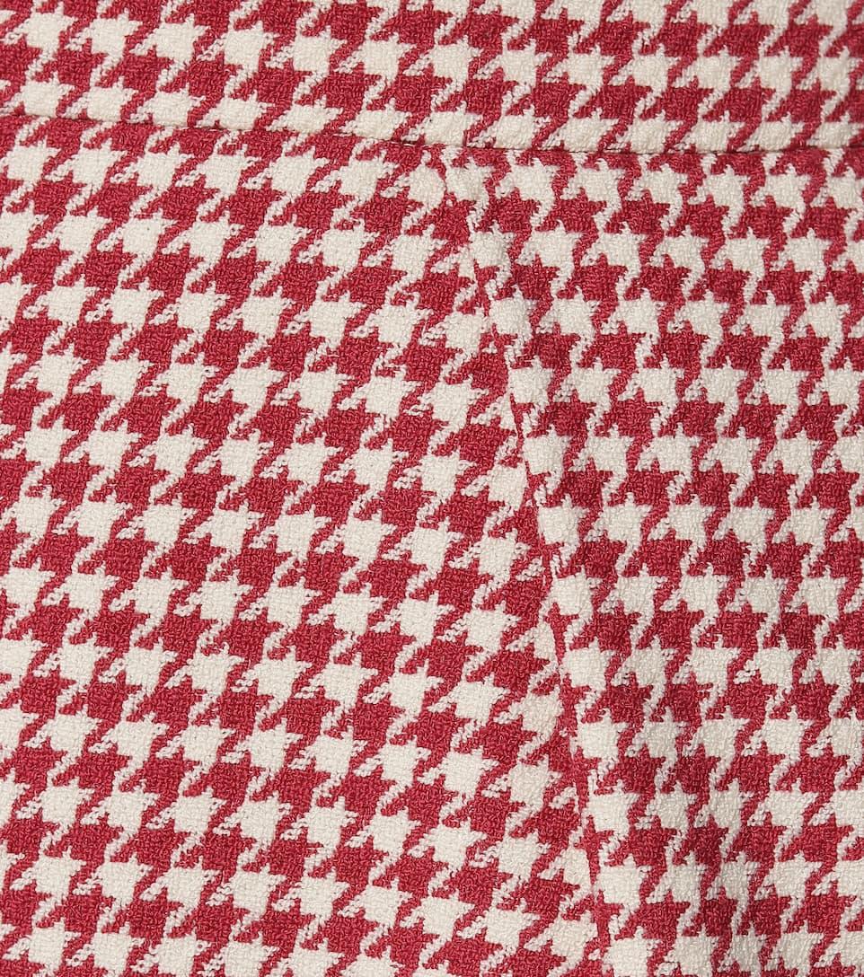 Alexandre Vauthier - Houndstooth cotton-blend miniskirt
