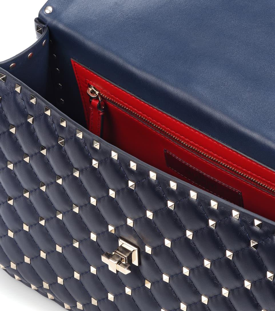 Valentino Valentino Garavani Schultertasche Rockstud Spike aus Leder Freies Verschiffen Niedriger Versand Rabatt Zum Verkauf ycTrgQA