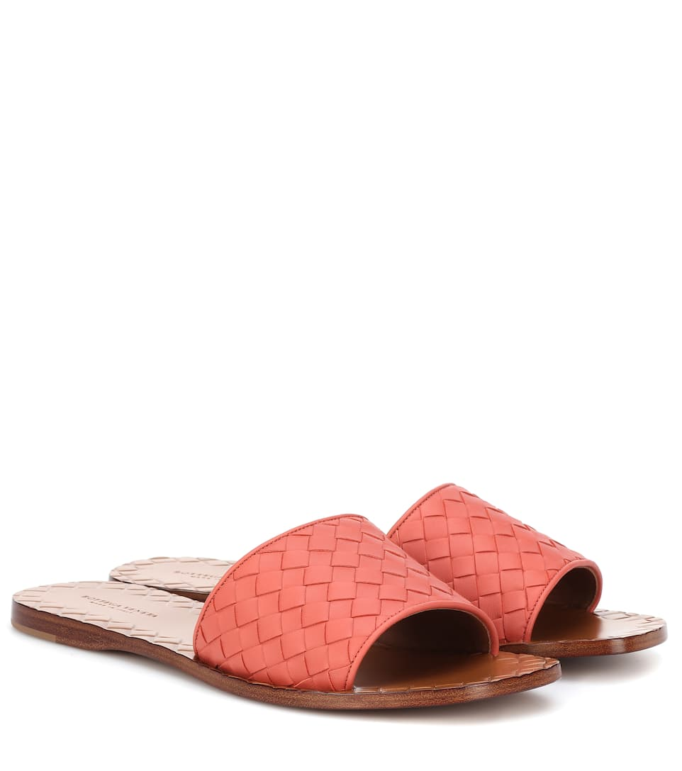 22340a7f1d73 Ravello Intrecciato Leather Sandals - Bottega Veneta