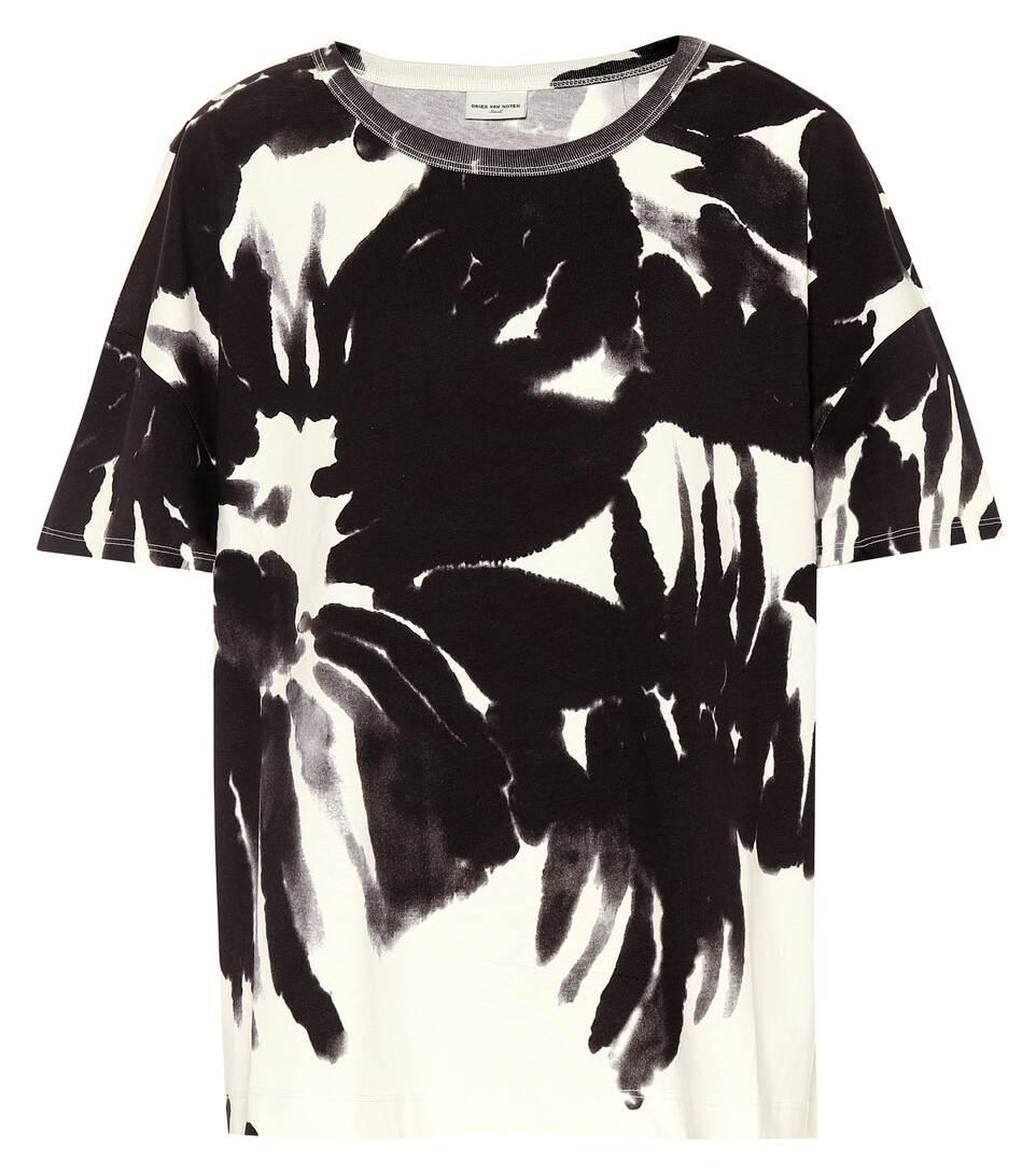 db848697 Printed Cotton T-Shirt - Dries Van Noten | mytheresa.com