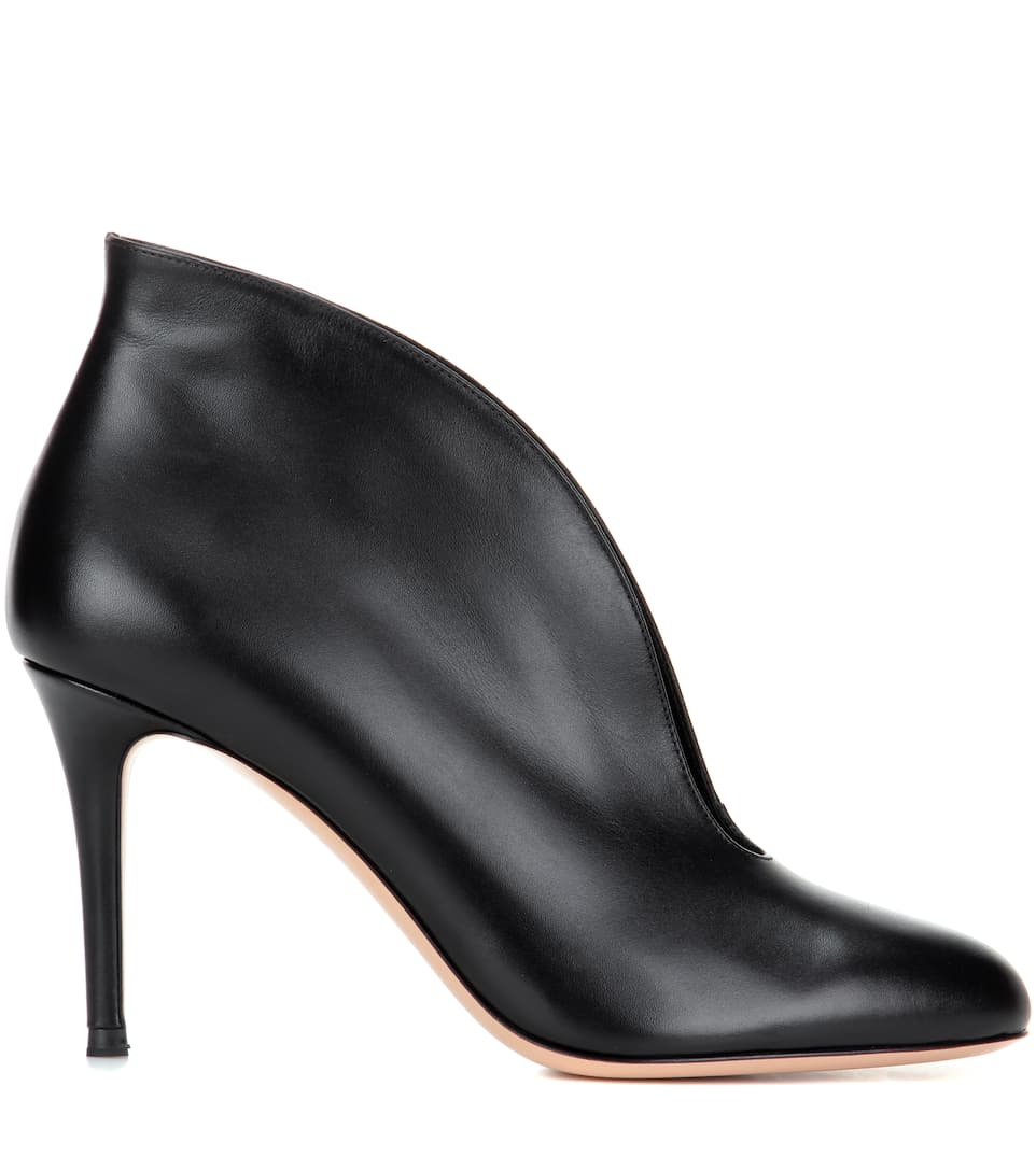 Gianvito Rossi Vamp leather ankle boots Black Amazing Price Online Buy Cheap New Styles Sale From UK Buy Cheap Best Store To Get faeaMe0dIT