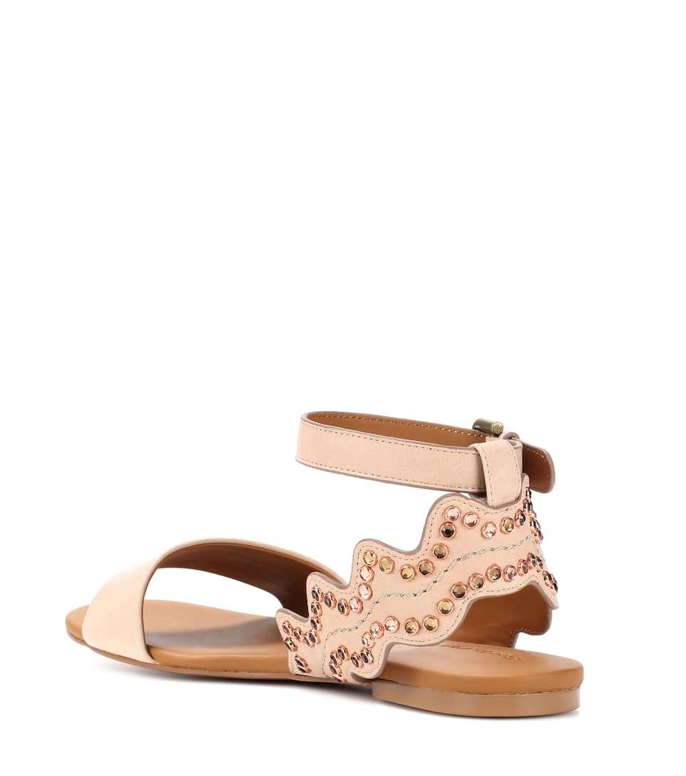 See By Chloé Studded Sandals Of Leather