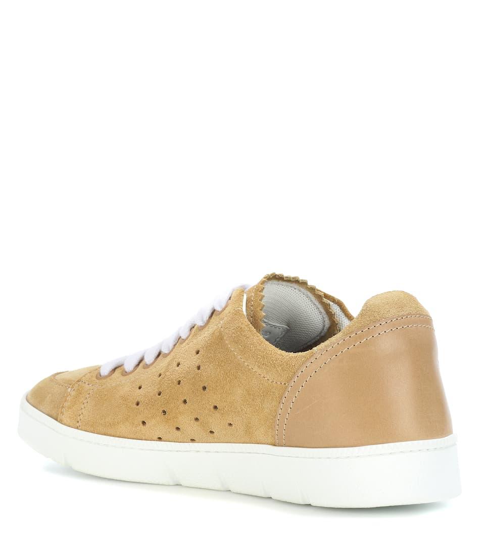 Loewe Sneakers aus Veloursleder