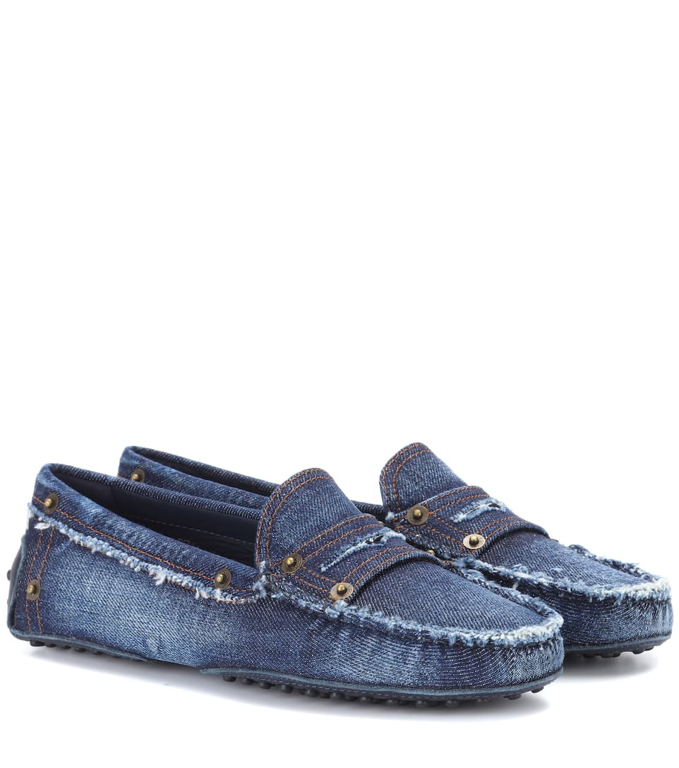 Tod'sDistressed Denim Loafers
