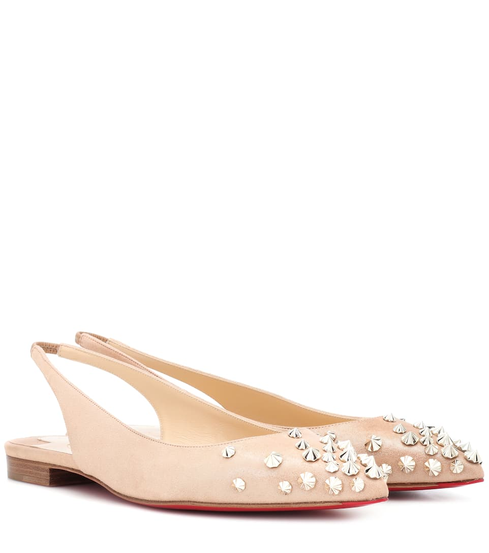Drama Sling Suede Ballet Flats by Christian Louboutin