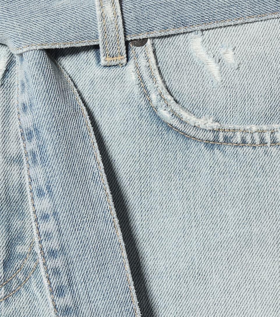 Givenchy - Belted denim miniskirt