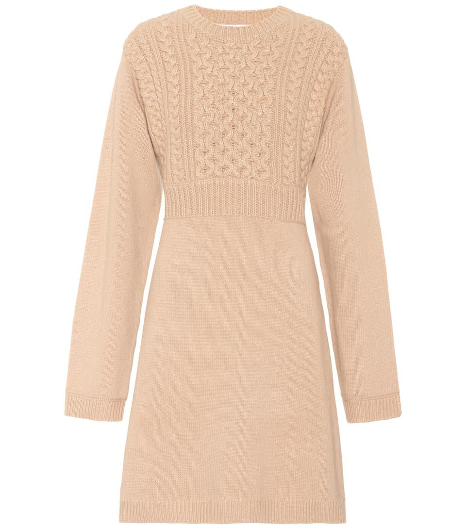 Chloé Exklusiv bei mytheresa.com – Strickkleid aus Wolle und Cashmere