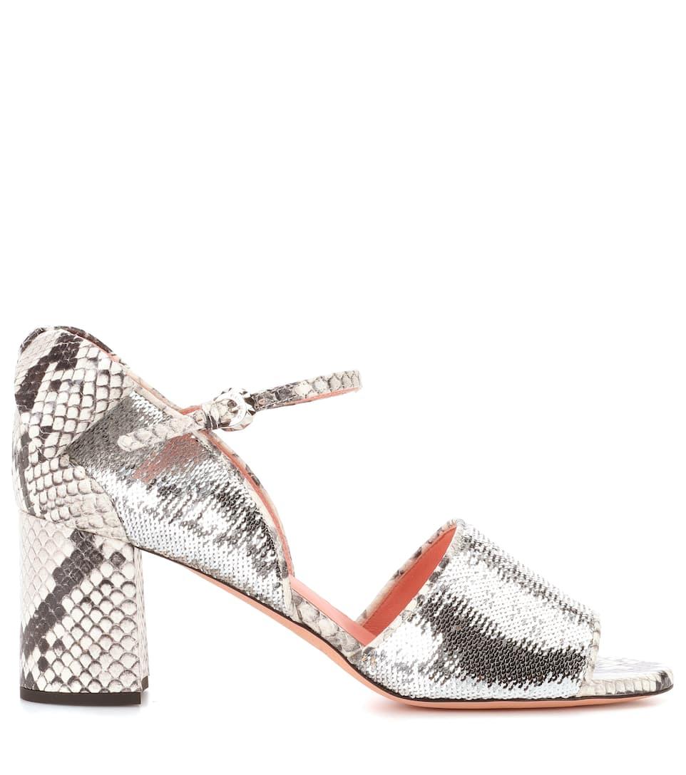 Spielraum Shop Online-Verkauf Rochas Sandalen aus Leder Verkauf Der Neuen Ankunft Für Schöne Günstig Online Spielraum Footlocker Finish Günstig Kaufen Neue NgoYg