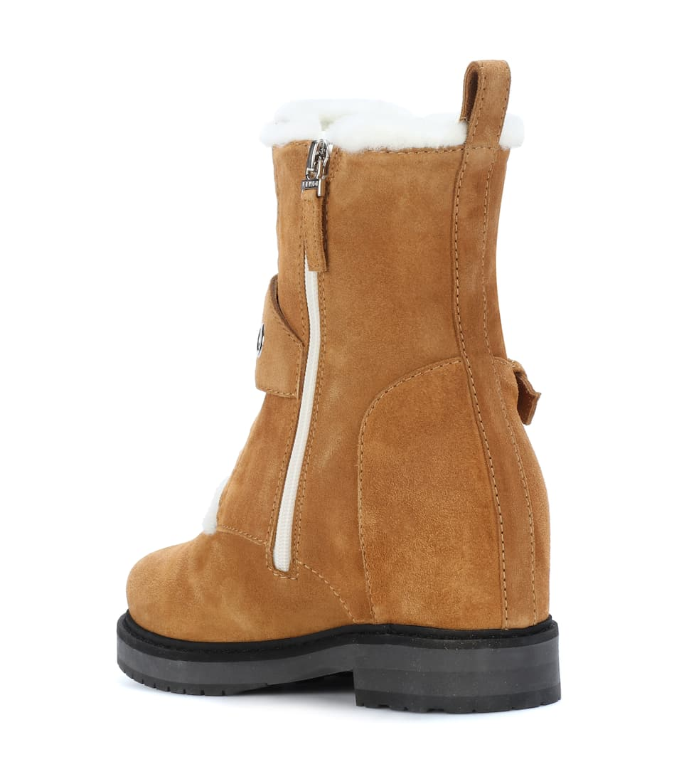 Fendi Ankle Boots With Wedge Heels Of Suede