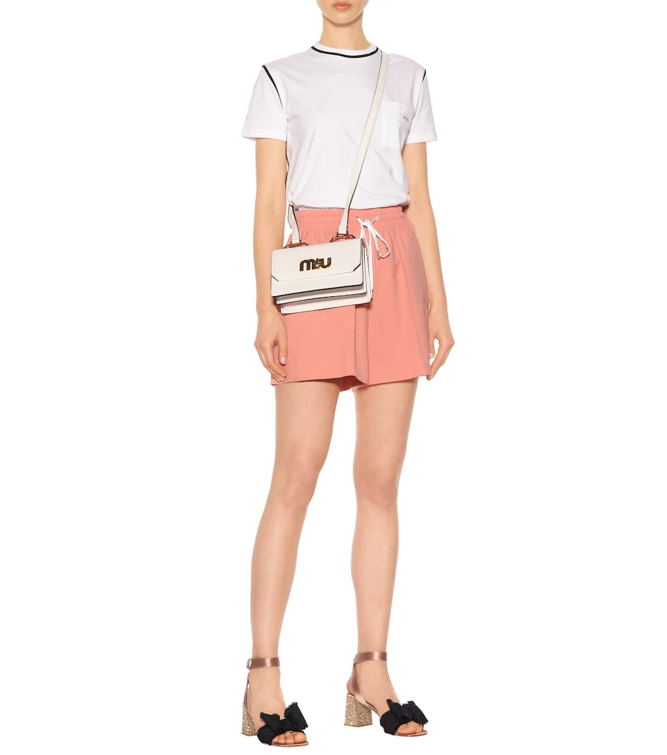 Miu Miu Printed T-shirt Made Of Cotton