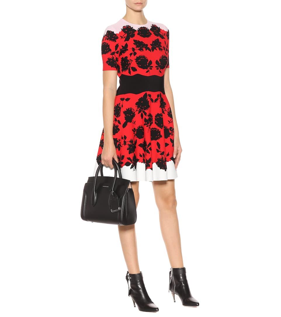 Alexander McQueen Kleid aus Jacquard-Strick Verkauf Manchester n68SkKlKM