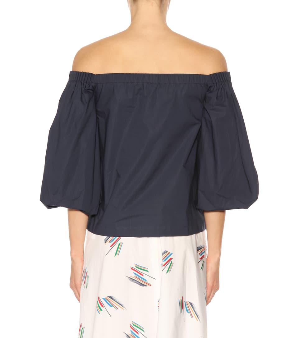 Gabriela Hearst Off-Shoulder-Bluse Joan aus Baumwolle