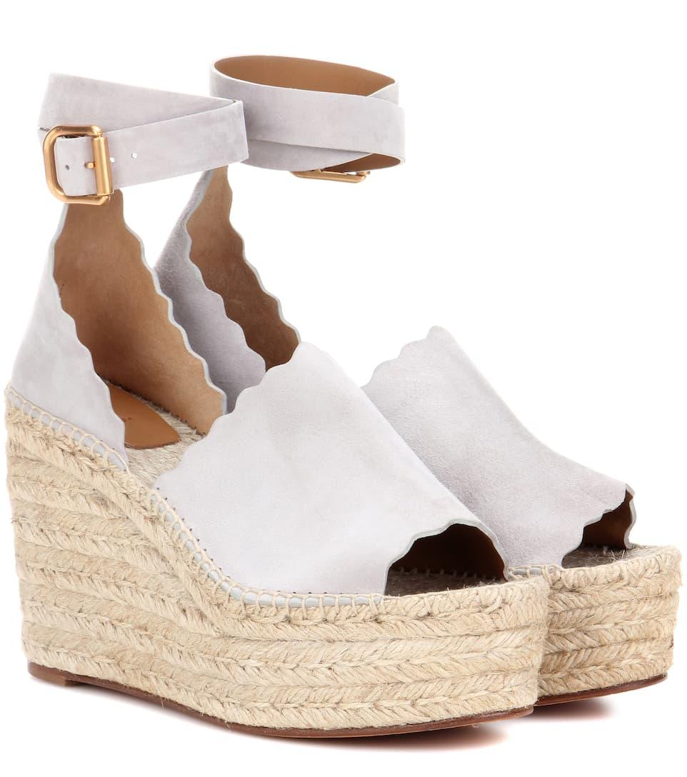Sandales en daim à plateforme LaurenChloé zuRjKGCLdN