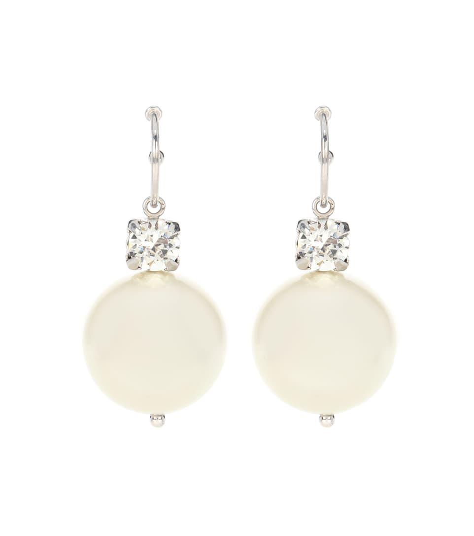 Simone Rocha Crystal and faux pearl earrings V04oAadBEj