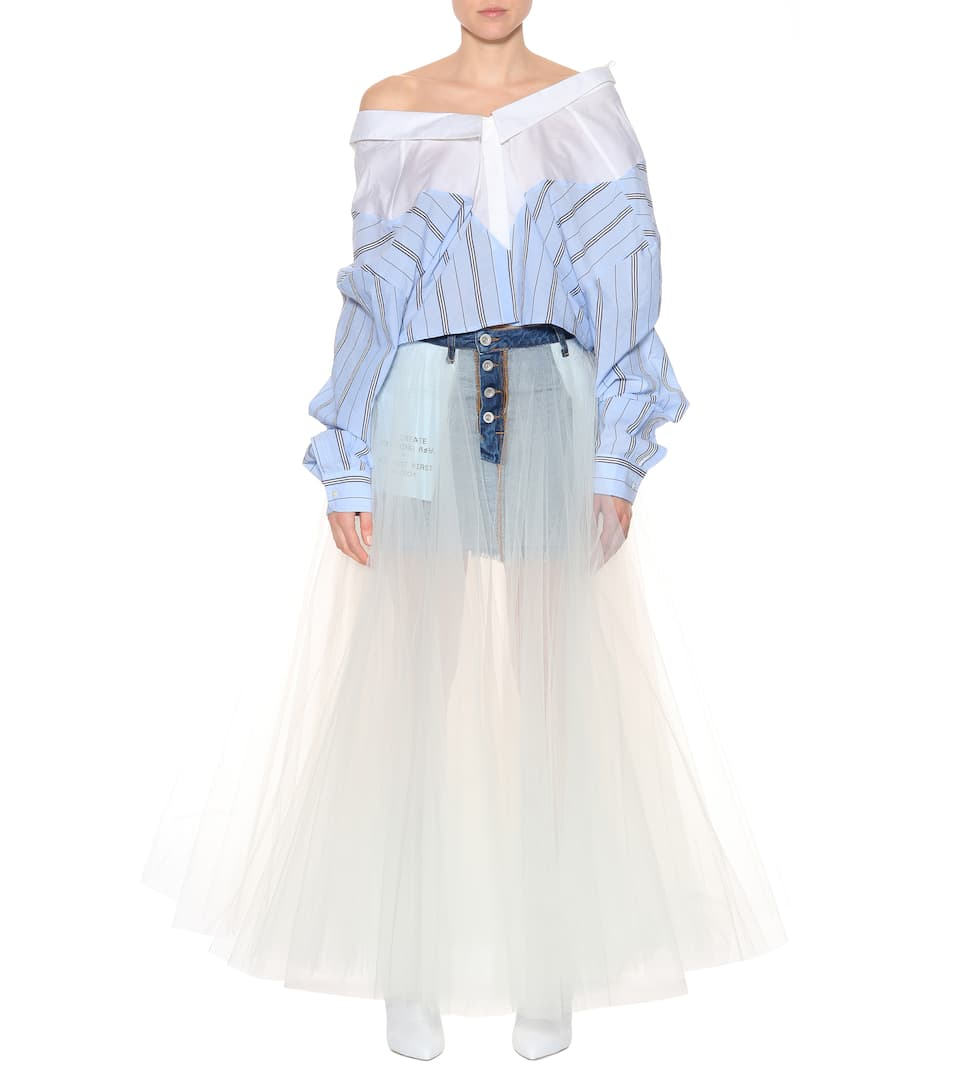 381bb12a9b3 Denim And Tulle Skirt - Unravel