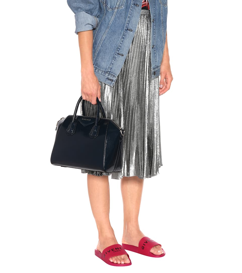 Deep Blue Antigona charol Givenchy tote 6wCRxqz