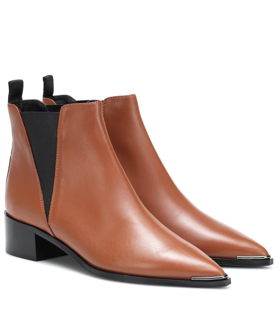 b0be095d4994 Jensen Leather Ankle Boots   Acne Studios - mytheresa