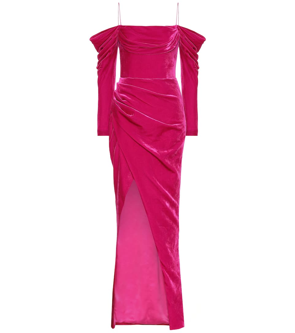 Silk Blend Velvet Corset Gown by Rasario