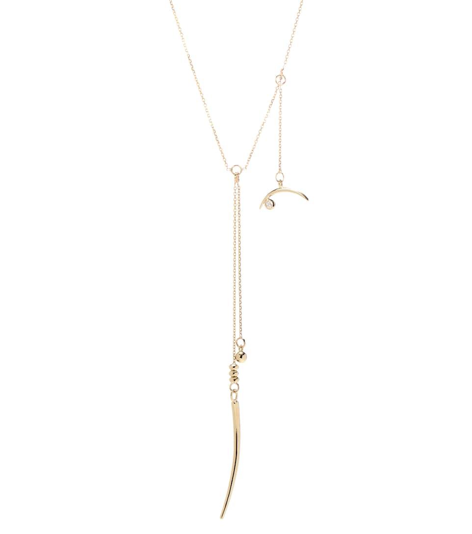 Diamant Collier 14 Wasson En Carats Fine Et Moon Jaune Or WED92IH