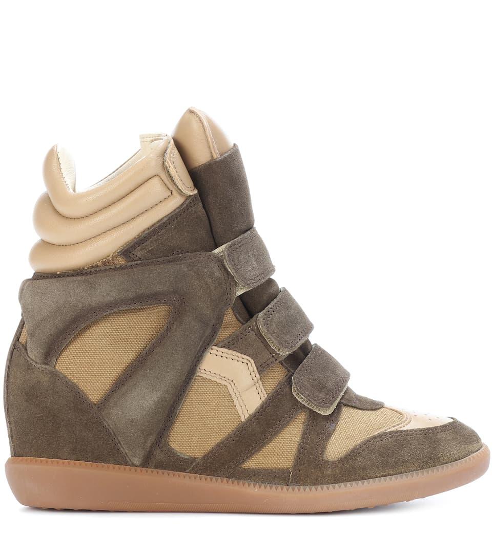 Isabel Marant Wedge-Sneakers Bekett aus Veloursleder