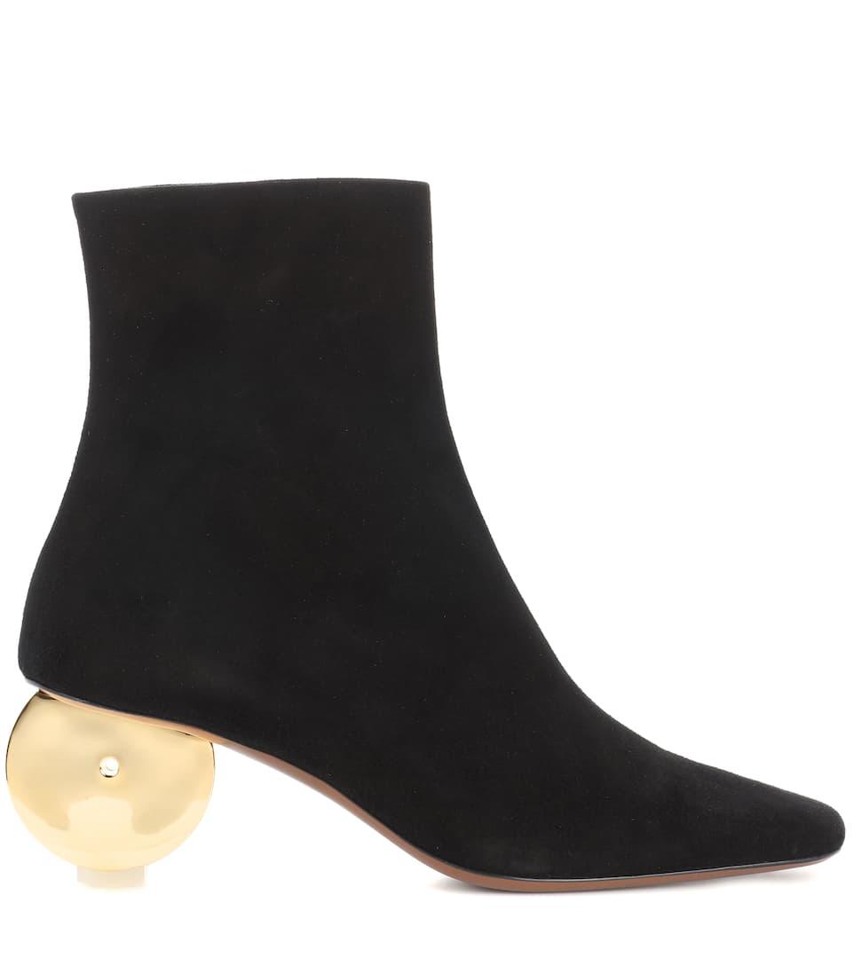 Neous Ankle Boots aus Veloursleder