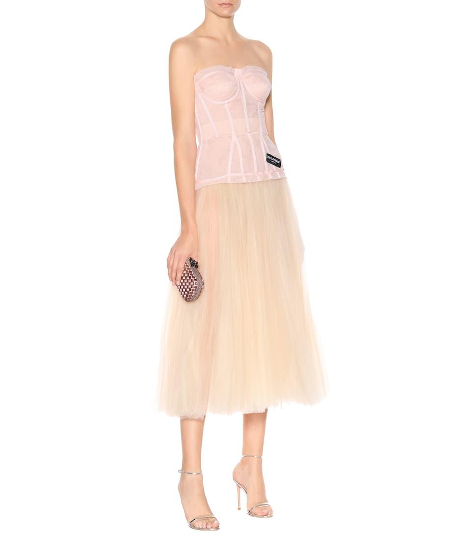 Dolce & Gabbana - Robe bustier en tulle Meilleur Endroit Prix Pas Cher mllpEo