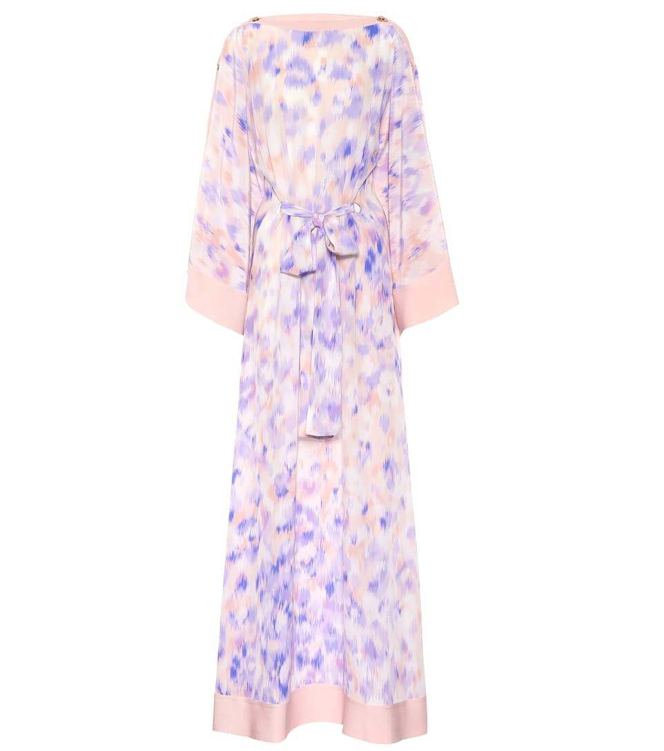 Clearance Limited Edition Discount Hot Sale Roberto Cavalli Printed silk maxi dress Lilac Clearance Online Fake DUgyTg