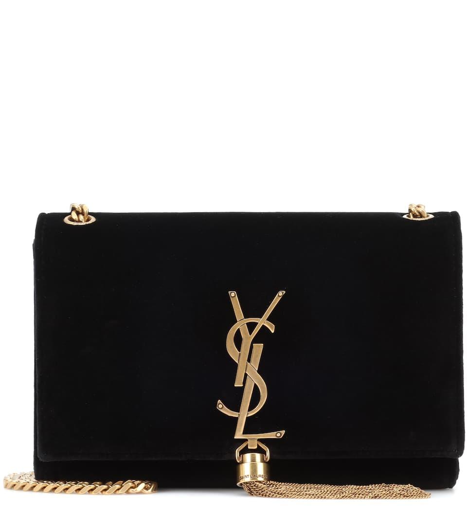 Sac En Velours Classic Kate Monogramme Small - Saint Laurent Vente Pas Cher À La Mode fMfSyQ