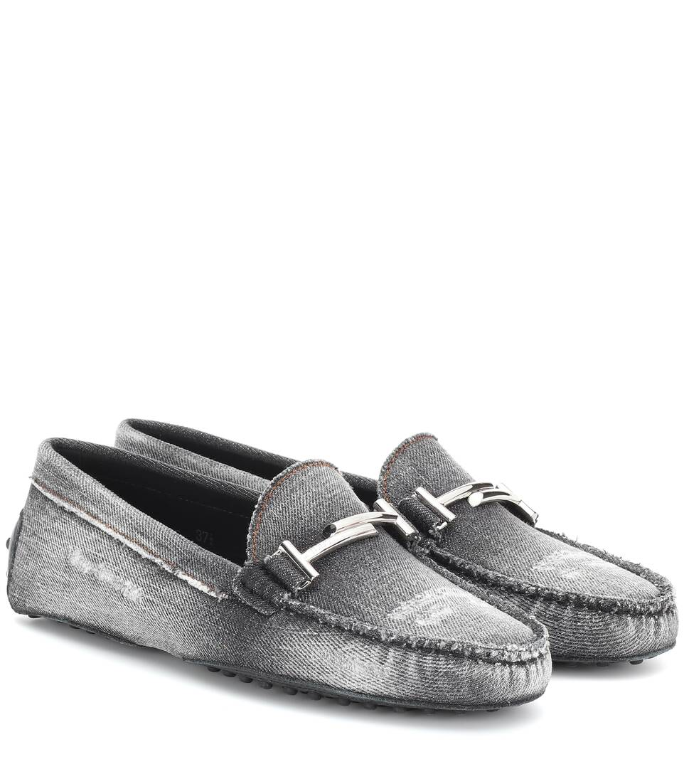 dc6ef8dc7f2 Gommino Double T Denim Loafers - Tod s