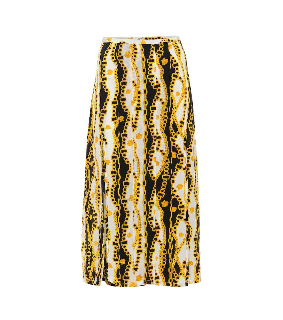 7fb2ffafc3e9 Rixo - Georgia pleated silk skirt | Mytheresa