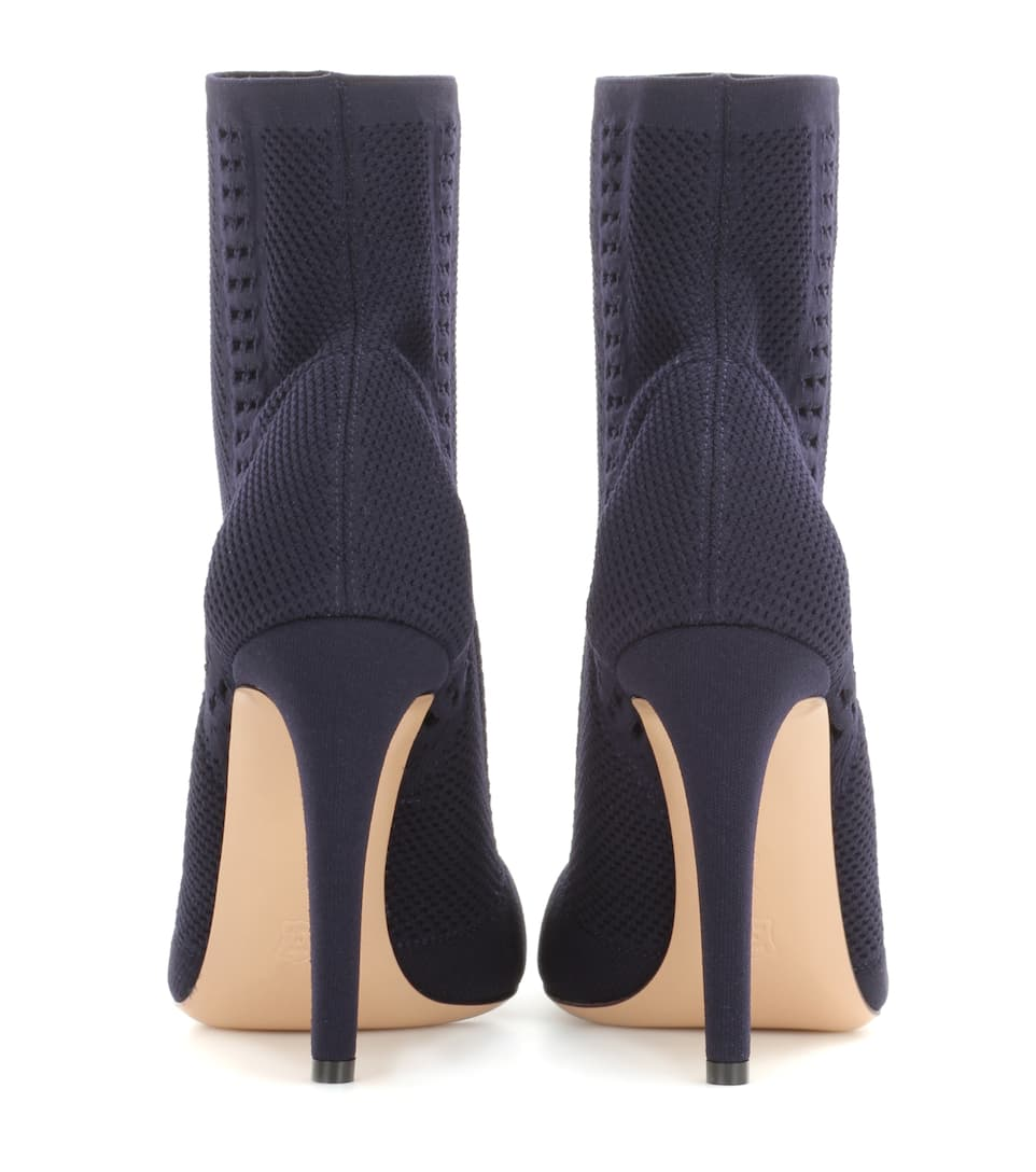 gianvito vires knitted ankle boots mytheresa