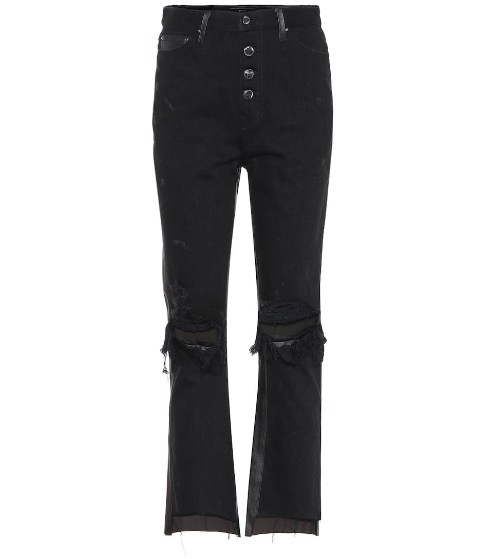 cropped flared jeans - Black Amiri ylBLLrlz