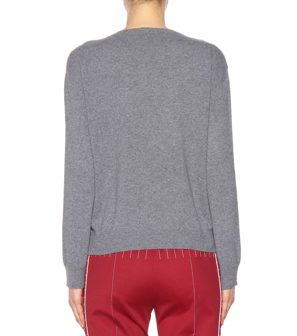 Enjoy Shopping Sale 100% Original Valentino Intarsia wool and cashmere sweater Grey Websites Online Ebay Cheap Price Free Shipping Browse 7Gaxrn