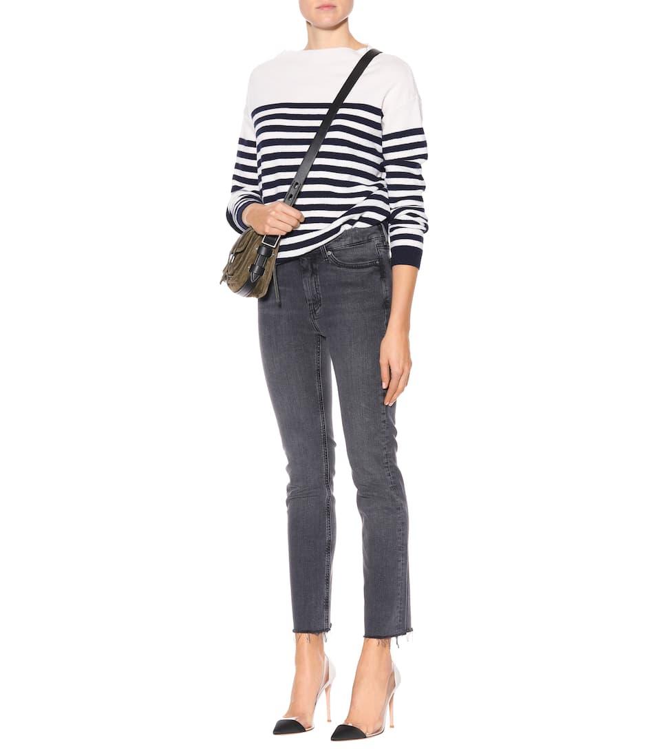 Geschäft M.i.h Jeans Gestreifter Pullover aus Merinowolle Aussicht Günstig Kaufen Mit Mastercard MM5bCJIr3