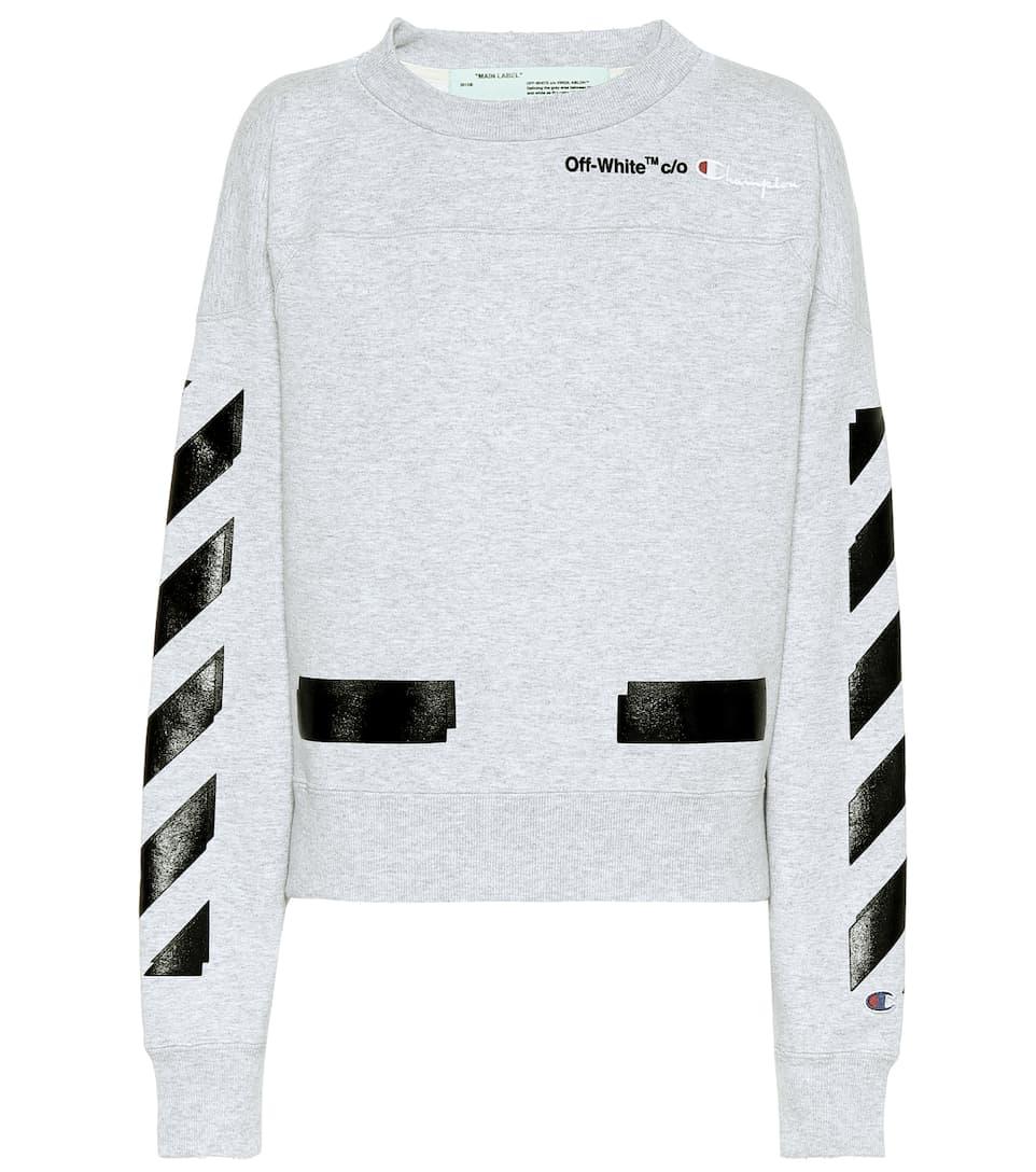 Off-White X Champion Hoodie aus Baumwolle
