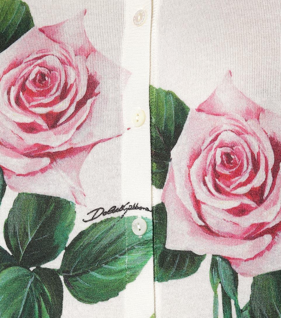 Dolce & Gabbana - Floral cashmere-blend cardigan