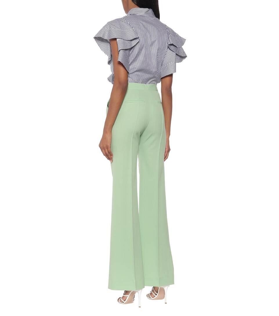 Victoria Victoria Beckham - High-rise slim wool-blend pants