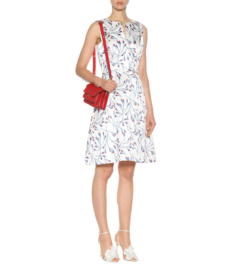 Carolina Herrera Ärmelloses Minikleid aus Baumwolle und Seide mit Print