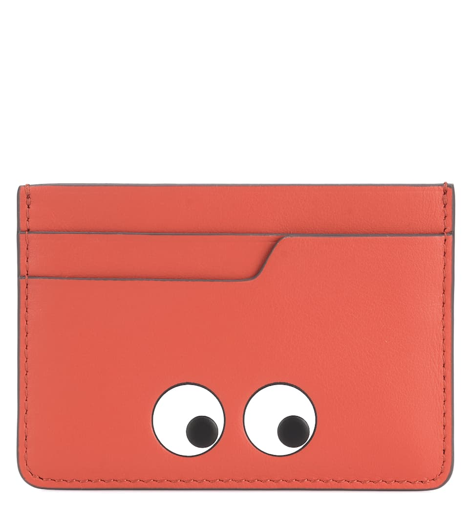 Porte carte Eyes en cuir